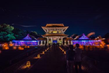 富山県唯一の国宝瑞龍寺夏のライトアップ(2018/8/11-12)
