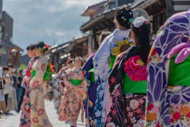 高岡市ミラレ金屋町富山大学生着物ファッションショー(2018/9/22-23)