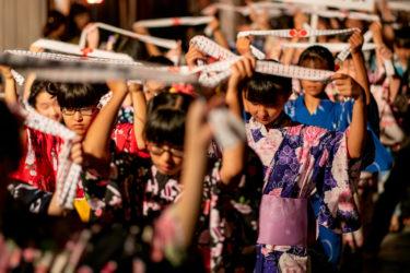 高岡市金屋町 御印祭前夜祭 弥栄節街流し(2019/6/19)