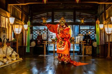 新湊放生津八幡宮「東北復興祈願祭:蘭陵王の舞」(2019/3/9)